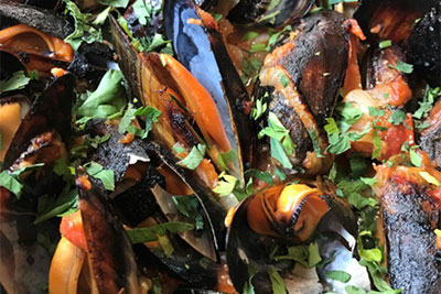 woodfired Mussels