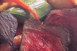 woodfired venison steak