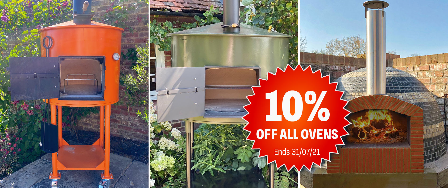 10% off woodfired Pizza Ovens