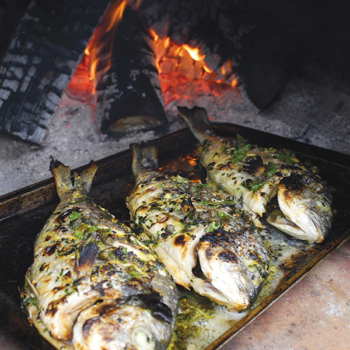 woodfired fish